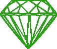 Strijkapplicatie Diamant Kroon Open
