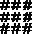 Strijkapplicatie Hashtag set