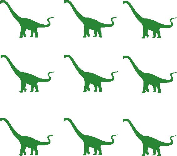Strijkapplicatie Dino set