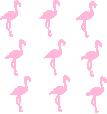 Strijkapplicatie Flamingo set