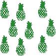 Strijkapplicatie Ananas set
