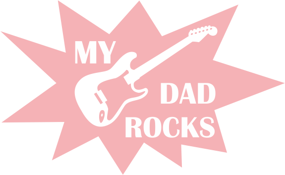 Strijkapplicatie Dad Rocks