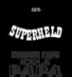 Strijkapplicatie Superheld PAPA