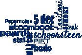 Strijkapplicatie Sint Typografie