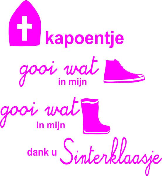 Strijkapplicatie Sint Kapoentje