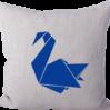 Strijkapplicatie Zwaan Origami
