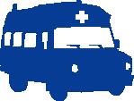 Strijkapplicatie Ziekenwagen Retro