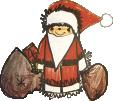 Strijkapplicatie Kerstmannetje