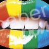 Strijkapplicatie Rainbow lips