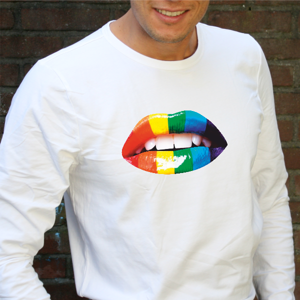 Rainbow Lips Strijkapplicaties Shirt Strijkapplicaties Rainbow Lips Rainbow Shirt 1cuK35TFJl