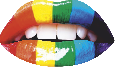 Strijkapplicatie Rainbow lips