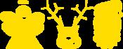 Strijkapplicatie Kerst Emoji