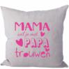 Strijkapplicatie Mama-Papa Trouwen