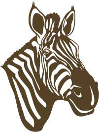 Strijkapplicatie Zebra