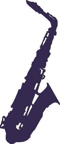 Strijkapplicatie Saxofoon