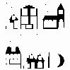 Herbruikbare Sticker Huisjes