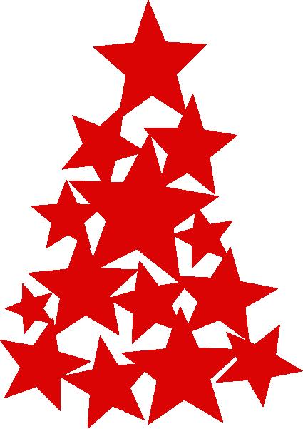 Strijkapplicatie Kerstboom Sterren