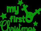 Strijkapplicatie My first christmas