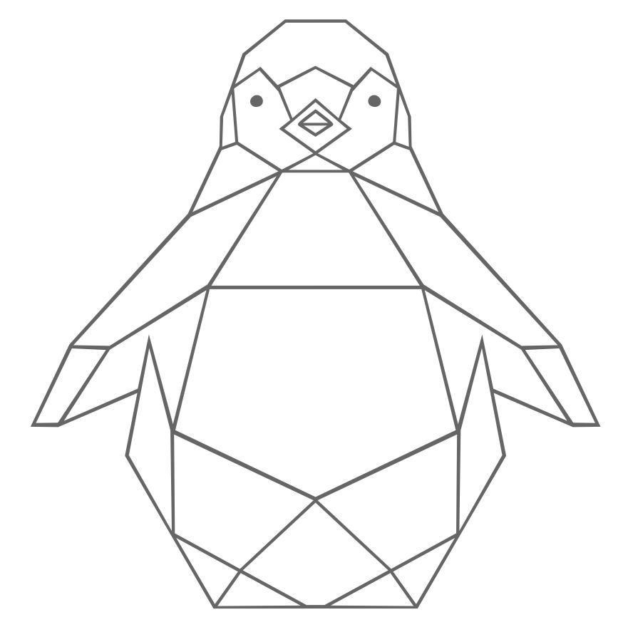 Strijkapplicatie Pinguïn Geo