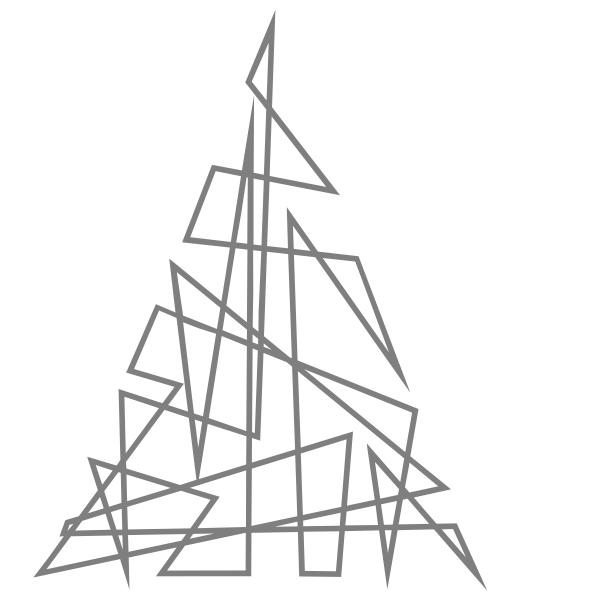 Strijkapplicatie Kerstboom 1 Lijn