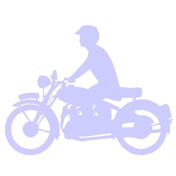 Strijkapplicatie Motor Mannetje