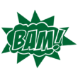 Strijkapplicatie Stripwolk BAM