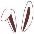 Strijkapplicatie Bunny Haas Oren