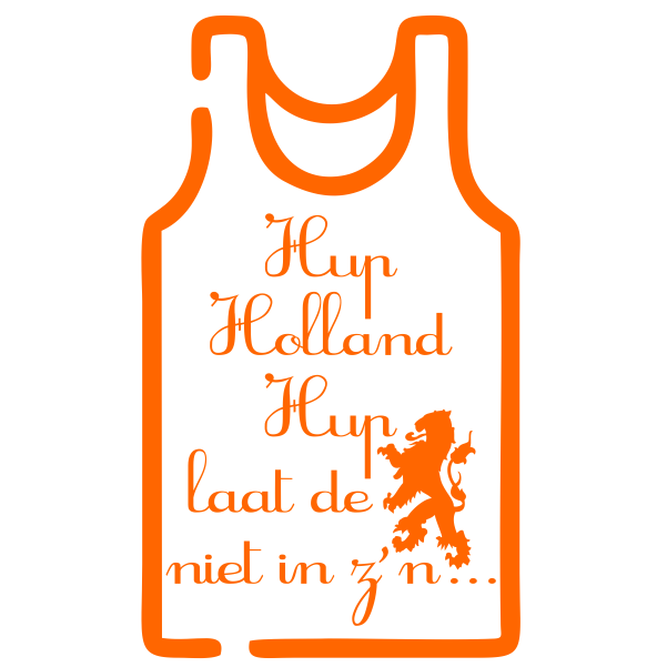 Strijkapplicatie Hup Holland Hemd