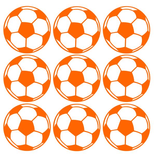 Strijkapplicatie Voetbal set
